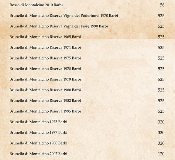 best wine list italian brunello new york