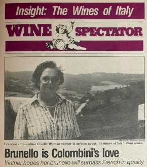 "Marvin Shanken circa 1983: ""keep your eye on the backlands of Montalcino and future role of Brunello."""