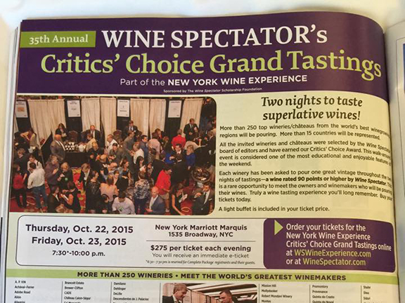 wine spectator experience new york