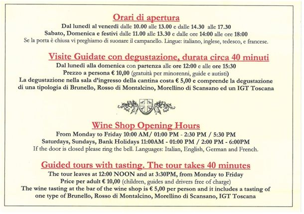 tasting rooms brunello montalcino