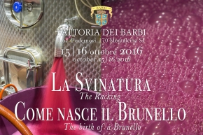 The Birth of Brunello 2016: A guided tasting event Sat. and Sun. Oct.15-16