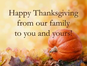 Happy Thanksgiving fromMontalcino!