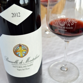 "Bruce Sanderson (Wine Spectator) recommends 2012 Brunello Vigna del Fiore as ""top Brunello"" (94 points)"