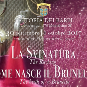 Witness the Birth of a Brunello at Fattoria dei Barbi September 30 and October 1