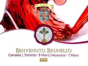 Benvenuto Brunello CANADA March 5 and7!