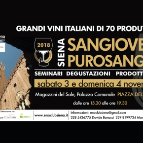"Taste Fattoria dei Barbi this weekend in Siena at the ""Sangiovese Thoroughbred"" event"