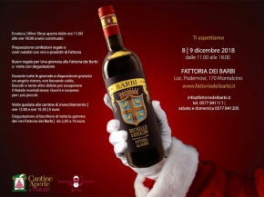 Christmas at Fattoria dei Barbi! Gift wrapping, gift baskets, and much, much more!