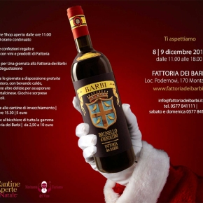 Christmas at Fattoria dei Barbi! Gift wrapping, gift baskets, and much, muchmore!