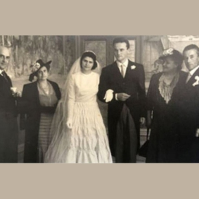 The marriage of Franco Biondi Santi and Maria FloriaPetri